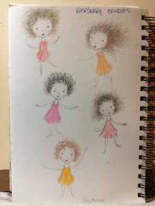 """""""Cutie Pies - sketches"""" in my sketchbook - Lorraine Young - pencil and charcoal"""